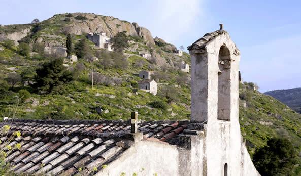 Paleochora the Old Town of Aegina