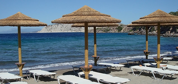 Sarpas beach in Aegina